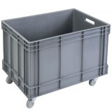 Open top XL plastic container 102L on wheels