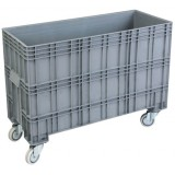 Open top XL plastic container 215L on wheels