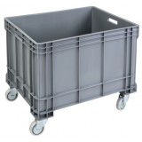 Open top XL plastic container 160L on wheels