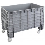 Open top XL plastic container 223L on wheels