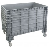 Open top XL plastic container 340L on wheels