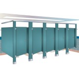 ANC Cubicles Semi Framed Wet Series BRA 400 Sentinel Overhead Braced