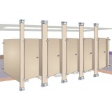 ANC Cubicles Semi Framed Wet Series BRA 700 Floor To Ceiling