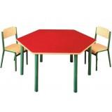 ANC  PreSchool Series Bambino SL hexagonal nr2,3 beech top table