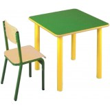 ANC  PreSchool Series Bambino SL square nr2,3 beech top table