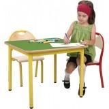 ANC  PreSchool Series Bambino SL square adjustable beech top table