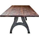 ANC Wood-Metal Indu Series Dinning Table 200/100 Rn Leg