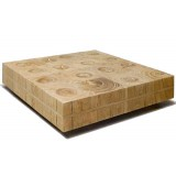 ANC Wood slab series Coffee table Manteiga SQR