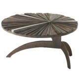 ANC Wood slab series Coffee table FERPAS ROUND r7