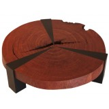 ANC Wood slab series Coffee table Bubinga Bolacha Star