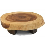 ANC Wood slab series Coffee table Bolacha SQR1