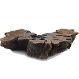 ANC Wood slab series Coffee table Organic Imbuia 1