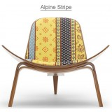 HM Series Shell chair CH07 Alpine Stripe