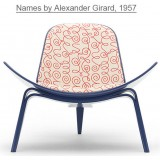 HM Series Shell chair CH07 Names