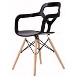 "CF Series NOX Wood chair Black (""Trace"" Inspired)"