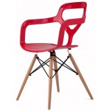 """CF Series NOX Wood chair Red (""""Trace"""" Inspired)"""