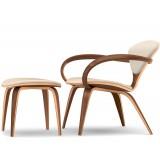Cherner lounge arm chair & ottoman