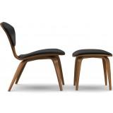 Cherner lounge side chair & ottoman