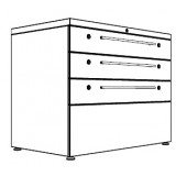 Tess Series Access 1000 Display Storage 6 drawers