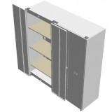 Tess Series Air tight Metal Cabinet 2x width