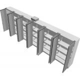 Tess Series Air tight Metal Cabinet 6x width
