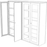 Tess Series Clarity Store Cabinet  1000 / 1355
