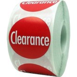 """Anc Series Labels / Round Stickers """"Clearance"""" (roll of 500)"""