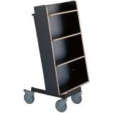 EBL Series Book trolley Halland+, black/b