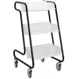 EBL Series Book trolley Larry, black/white
