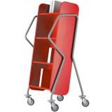 EBL Series Book trolley Oblique, red