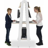EBL Series Showitall, tabletops, double, white