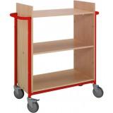 EBL Series Book trolley Ven, beech/red