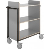 EBL Series Book trolley Ven+, grey/black