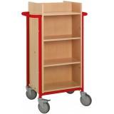 EBL Series Book trolley Gotland, red