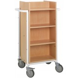 EBL Series Book trolley Gotland, white