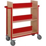 EBL Series Book trolley Oland, red