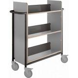 EBL Series Book trolley Oland Plus, Grey/black