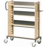 EBL Series Book trolley Sverker, birch/graphite grey