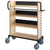 EBL Series Book trolley Sverker, birch/black
