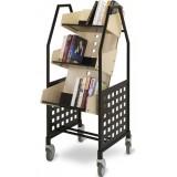 EBL Series Book trolley Viking, birch/graphite grey