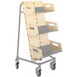 EBL Series Book trolley Gorm, birch/graphite grey