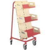 EBL Series Book trolley Gorm,birch/red
