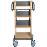 EBL Series Book trolley Grim, birch/graphite grey