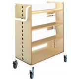 EBL Series Book trolley Bjorn, birch/white