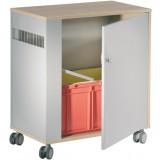 EBL Series Book return cabinet, birch dec