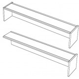 EBL Softline Desk system shelf  for module K  addon