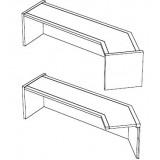 EBL Softline Desk system shelf  for module G  addon