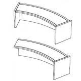 EBL Softline Desk system shelf  for module Y  addon