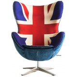 SW Series Egg chair Union Jack w/ blue wool/denim