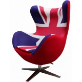 SW Series Egg chair Union Jack w/ red wool